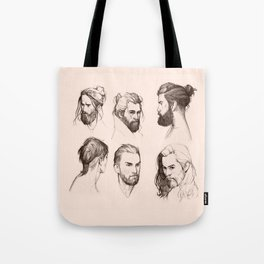 Bearded faces Tote Bag