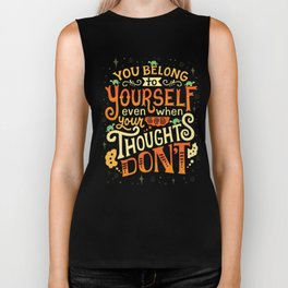 Thoughts are only thoughts Biker Tank