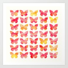 Butterflies Watercolor 1 Art Print