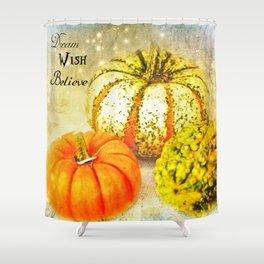 Pumpkin Wishes Shower Curtain