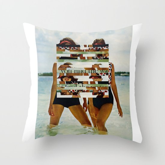 Bee Keen E. Gurls Throw Pillow