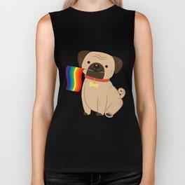 LGBT Gay Pride Flag Pug - Pride Gay Biker Tank