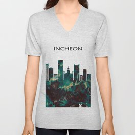 Incheon Skyline Unisex V-Neck