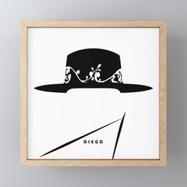 A Hat's Society - Diego Framed Mini Art Print