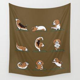 Beagle Yoga Wall Tapestry