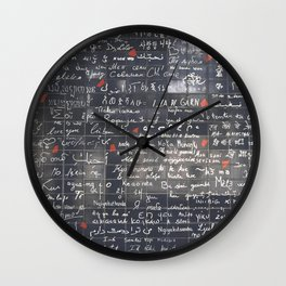 The Wall Of Love Wall Clock