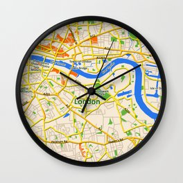 London Map design Wall Clock