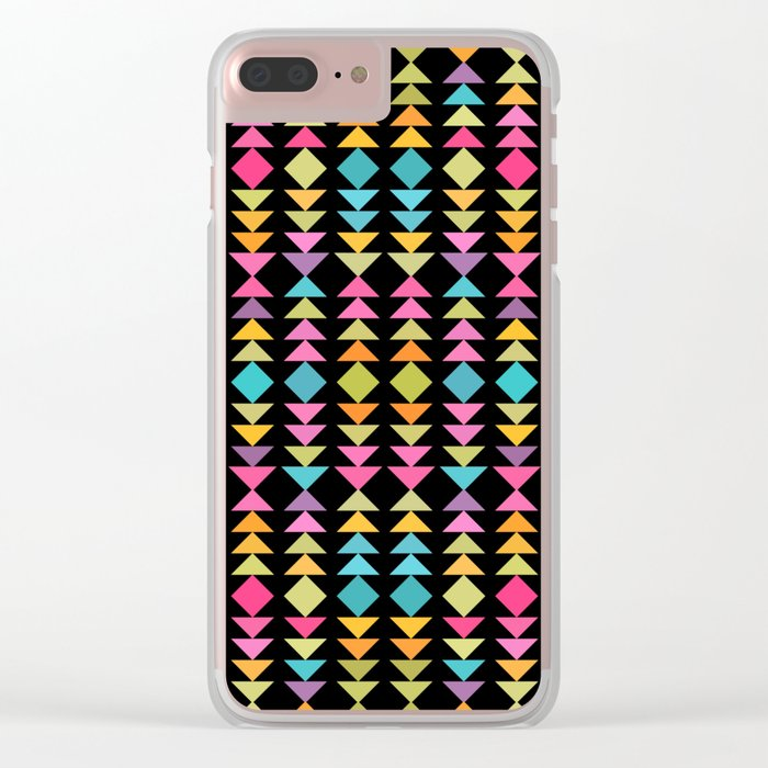 Lovely geometric Pattern VVII Clear iPhone Case