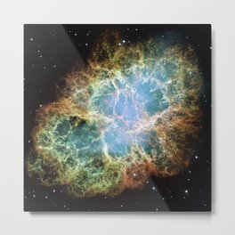 Most Detailed Image of the Crab Nebula Metal Print