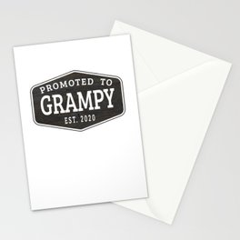 Promoted To Grampy Est 2020 Stationery Cards