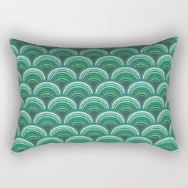 Japanese pattern forest colors Rectangular Pillow