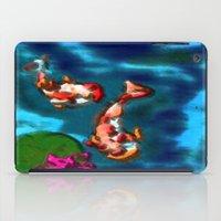 koi fish iPad Cases featuring KOI FISH by aztosaha