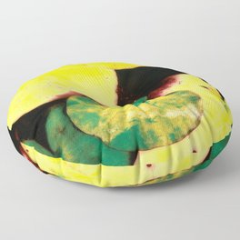 Water lily leaves Floor Pillow