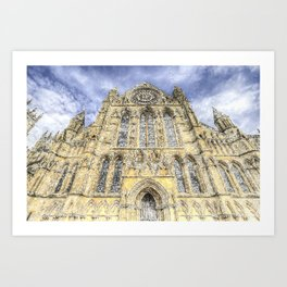 York Minster Cathedral Snow Art Art Print