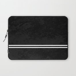 Infinite Road - Black And White Abstract Laptop Sleeve