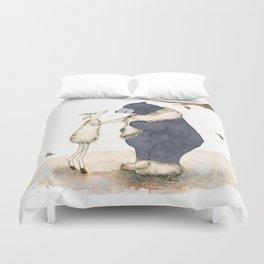 Winter gift for Bear Duvet Cover