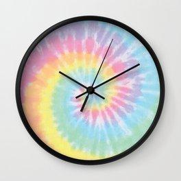 Pastel Tie Dye Wall Clock