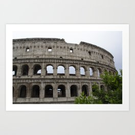 Outside the Coliseum Art Print