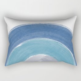 Minimalist Brush Stroke Half Circle Rectangular Pillow