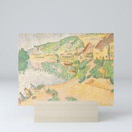"""Paul Signac """"Les Andelys, les laveuses"""" Mini Art Print"""