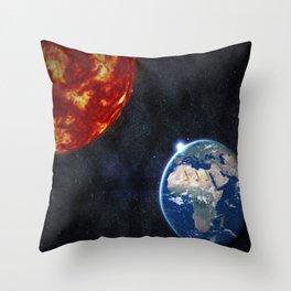 Sun, Ankh, Earth, Stars. Throw Pillow