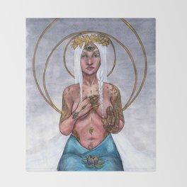 Surya Mudra Throw Blanket