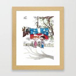 La vie est merveilleuse Framed Art Print