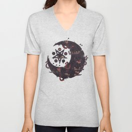 The Dark Moon Compels You to Fuck Shit Up Unisex V-Neck