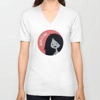 marceline V-neck T-shirts featuring Marceline by gaps81