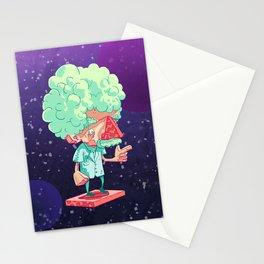 Einstein in Space Stationery Cards