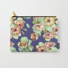 Yellow flowers pattern Carry-All Pouch