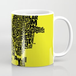 Pittsburgh Neighborhood Typography Map Coffee Mug