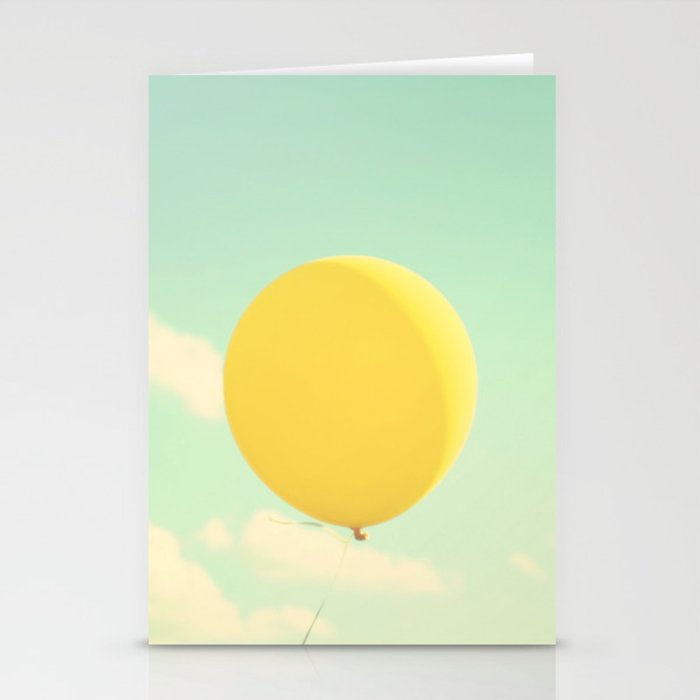 yellow balloon Stationery Cards