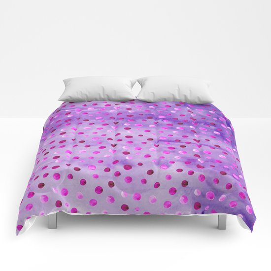 Polka Dot Pattern 02 Comforters
