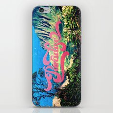 Pink Teal Retro Paradise Vintage Style Photography iPhone & iPod Skin