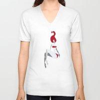 underwater V-neck T-shirts featuring underwater by Osvaldo Casanova