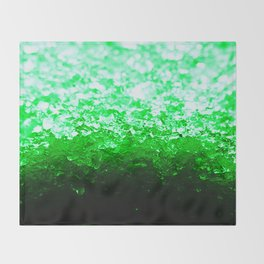 Emerald Green Ombre Crystals Throw Blanket