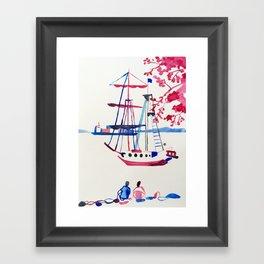 Le bateau en Bretagne Framed Art Print