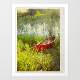 Little Red Canoe Art Print