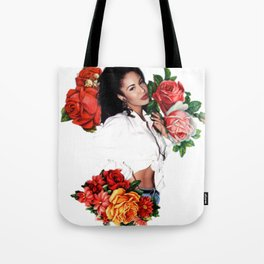 Floral Queen Tote Bag