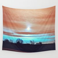 night sky Wall Tapestries featuring Night sky by J's Corner