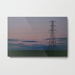 Sunset Signal Metal Print