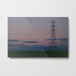 Sunset Signal Metal Print