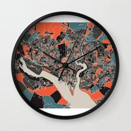 Southampton Multicoloured Print Wall Clock