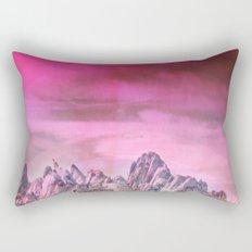 Pink Mountains Rectangular Pillow