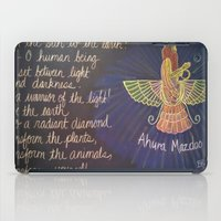 verse iPad Cases featuring Old Persian Verse by Brusling