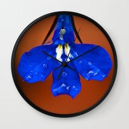 Single Lobelia Petal  Wall Clock