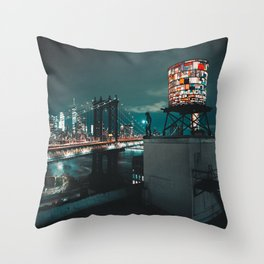 The Water Tower New York City (Color) Throw Pillow
