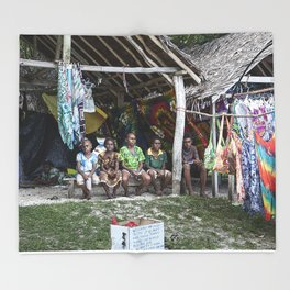 South Pacific Children Throw Blanket