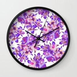 Vintage Floral Violet Wall Clock